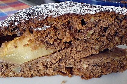 Schoko - Apfelkuchen mit Amaretto und Haferflocken 4