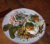 Fischerfrühstück mit Spiegeleiern (Bild)