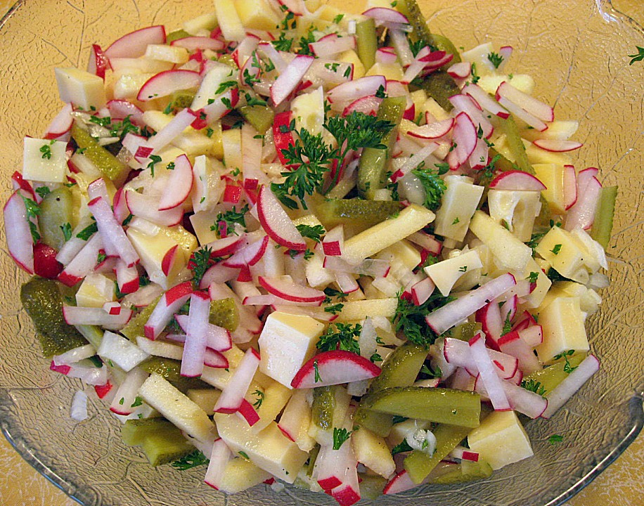 radieschen apfel salat rezept mit bild von bj rk. Black Bedroom Furniture Sets. Home Design Ideas