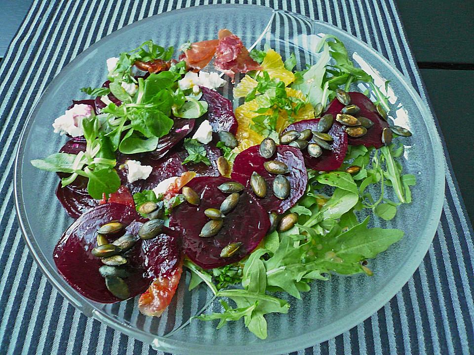 rote bete salat mit ziegenk se rezept mit bild. Black Bedroom Furniture Sets. Home Design Ideas