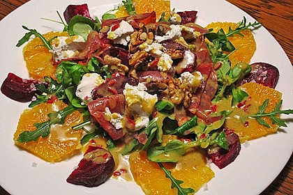 Rote Bete-Salat mit Ziegenkäse
