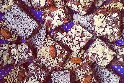 American Double Choc Brownies 16