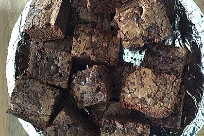 American Double Choc Brownies 164