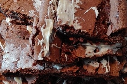 American Double Choc Brownies 110