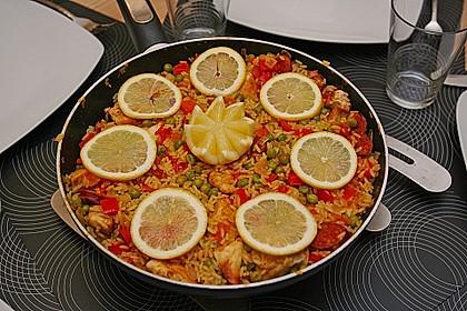 Hähnchen Paella