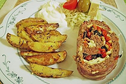 Mediterraner Hackbraten mit Oregano-Kartoffeln 14