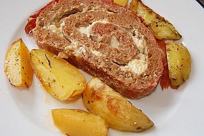 Mediterraner Hackbraten mit Oregano-Kartoffeln 2