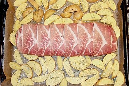 Mediterraner Hackbraten mit Oregano-Kartoffeln 91
