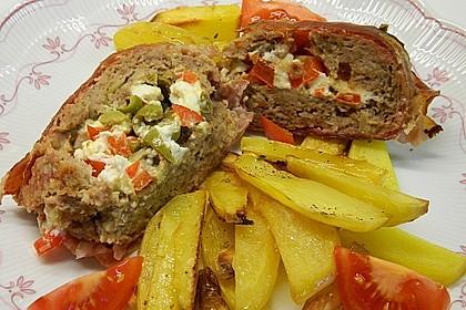 Mediterraner Hackbraten mit Oregano-Kartoffeln 7