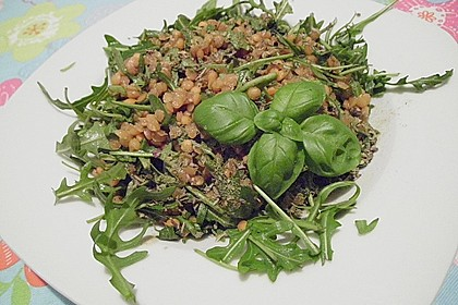 Linsen - Rucola - Salat 9
