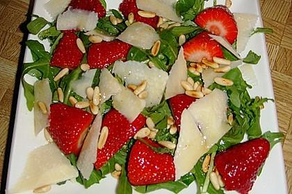 Basilikum-Rucolasalat mit Erdbeeren 69