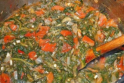 Blätterteigtaschen gefüllt mit Spinat und Feta 2