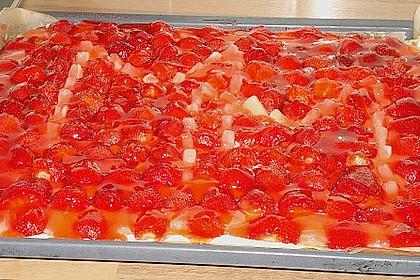Erdbeer-Kuchen mit Vanillecreme 88
