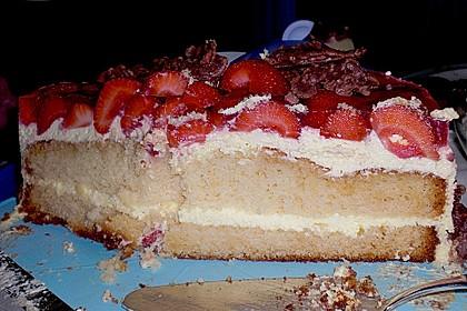 Erdbeer-Kuchen mit Vanillecreme 96