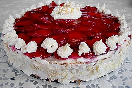 Erdbeer-Kuchen mit Vanillecreme 33