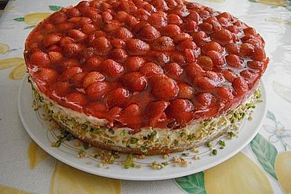 Erdbeer-Kuchen mit Vanillecreme 66