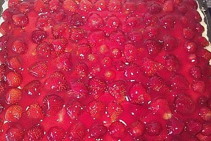 Erdbeer-Kuchen mit Vanillecreme 94