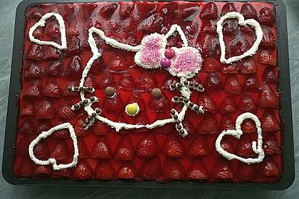 Erdbeer-Kuchen mit Vanillecreme 25