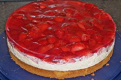 Erdbeer-Kuchen mit Vanillecreme 17