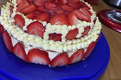 Erdbeer-Kuchen mit Vanillecreme 69