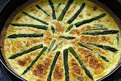 Spargelquiche mit Parmesan 1