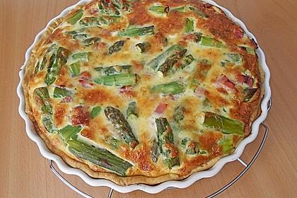 Spargelquiche mit Parmesan 2