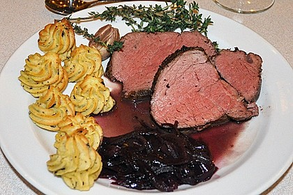 Rinderfilet auf Rotwein - Schalotten - Butter 4