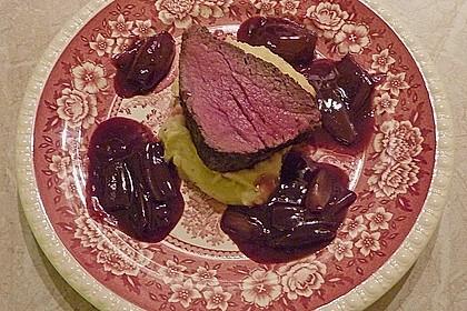 Rinderfilet auf Rotwein - Schalotten - Butter 21
