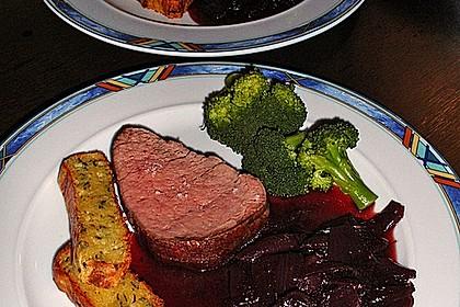 Rinderfilet auf Rotwein - Schalotten - Butter 2