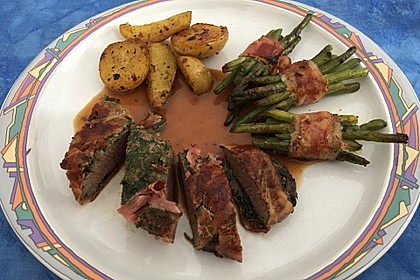 Bacon-Lamm mit Bärlauchrisotto