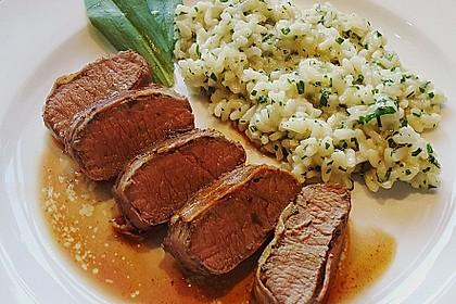 Bacon-Lamm mit Bärlauchrisotto 2