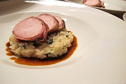 Bacon-Lamm mit Bärlauchrisotto 3