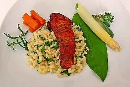 Bacon-Lamm mit Bärlauchrisotto 11
