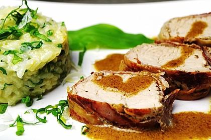 Bacon-Lamm mit Bärlauchrisotto 1