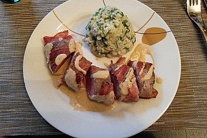 Bacon-Lamm mit Bärlauchrisotto 7