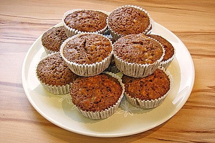Schokoladen - Walnuss - Muffins (Bild)