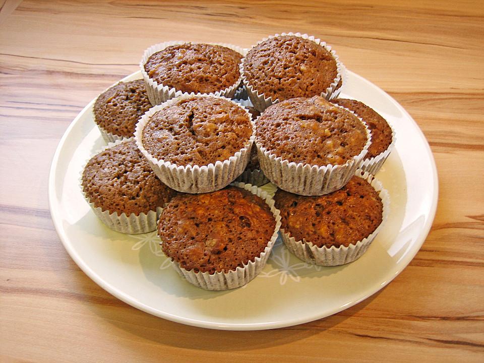 schokoladen walnuss muffins von mone. Black Bedroom Furniture Sets. Home Design Ideas