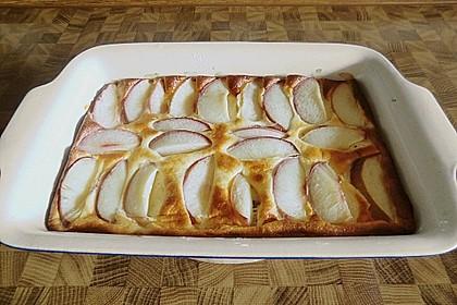 Pfirsichkuchen mit Crème fraîche - Guss