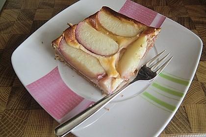 Pfirsichkuchen mit Crème fraîche - Guss 1