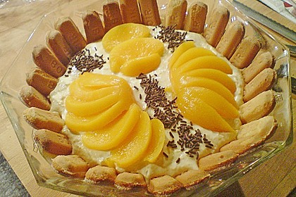 Pfirsich - Mascarpone - Dessert 3