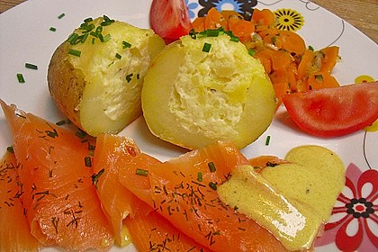 Baked Potatoes mit Lachs 0
