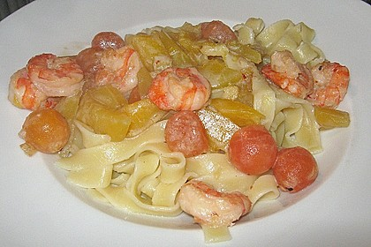 Mango, Papaya, Shrimps, Nudeln 0