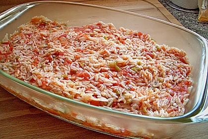 Gemüse - Reis - Pfanne mit Fischstäbchen 6