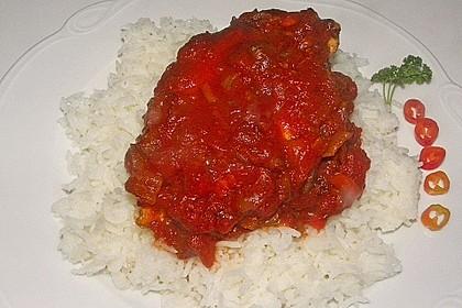 Hähnchenbrust in Tomaten - Honig - Chili - Soße 22