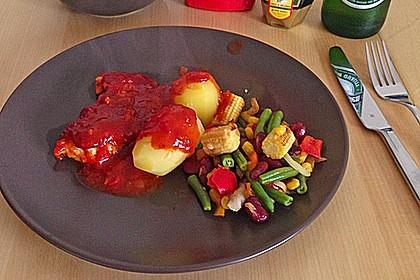 Hähnchenbrust in Tomaten - Honig - Chili - Soße 9