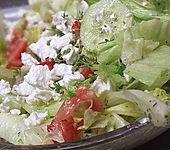 Tomaten - Gurken - Salat mit Feta