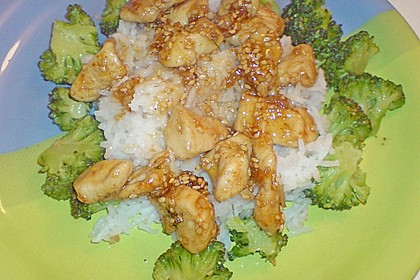 Honig - Hähnchenbrust mit Sesam und Broccoli 15