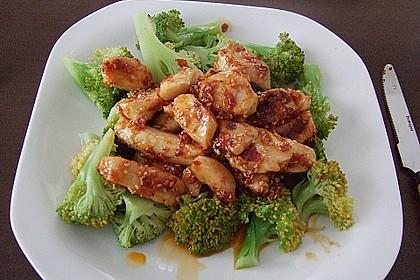 Honig - Hähnchenbrust mit Sesam und Broccoli 0