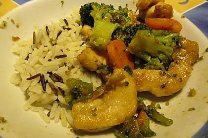 Honig - Hähnchenbrust mit Sesam und Broccoli 6