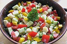 Tunesischer Gurkensalat mit Äpfeln